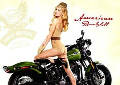 Retro look poster with Marisa Miller