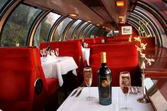 (Vine Times - The Magazine for California's Wine Country - Napa Valley Wine Train) An elegant dining experience would be a highlight of my dream getaway.