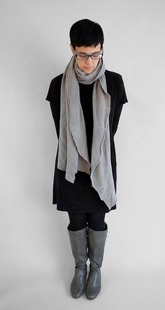 wool Cloud Scarf. (and great boots!)