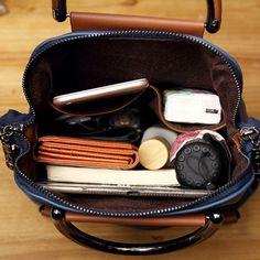 Blue Women PU Leather Backpack Designer Patchwork Ladies Shoulder Bag Female Travel Back Pack Bag Casual Mochila Colorful Backpacks, Vintage Backpacks, Inside My Bag, What's In My Purse, Cheap Crossbody Bags, Leather Handbags, Leather Bags, Pu Leather, Leather Backpacks