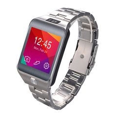 Steel Band Bluetooth Smart Watch WristWatch Heart Rate Test Pedometer Anti-lost Camera for iOS Android Smartphones Smartwatch