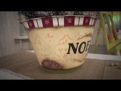 Balde navideño con Acrílicos Decorativos AD - YouTube