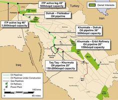 Detailed Map Of Iraq And Syria Shows Locations Of US Troops And - Map of us troops on iraq and oil piplines