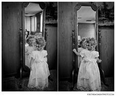The Bride & Her Flower Girl    #bride #flowergirl  #flowercrown #wedding #mirror #stlouisweddingphotography  #forthemomentphotography    http://forthemomentphoto.wordpress.com/2013/02/01/st-louis-wedding-photographers-the-bride-her-flower-girl/