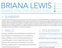 briana lewis marketing resume - Marketing Resumes