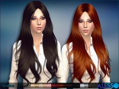 The Sims Resource: Quantum hair by Alesso • Sims 4 Downloads  Custom content
