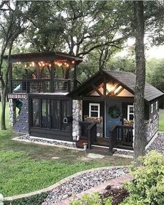 new modern dream house exterior design ideas Best Tiny House, Tiny House Cabin, Tiny House Living, Cabin Homes, Guest House Shed, Backyard Studio, Backyard Retreat, Backyard Playground, Backyard Kids