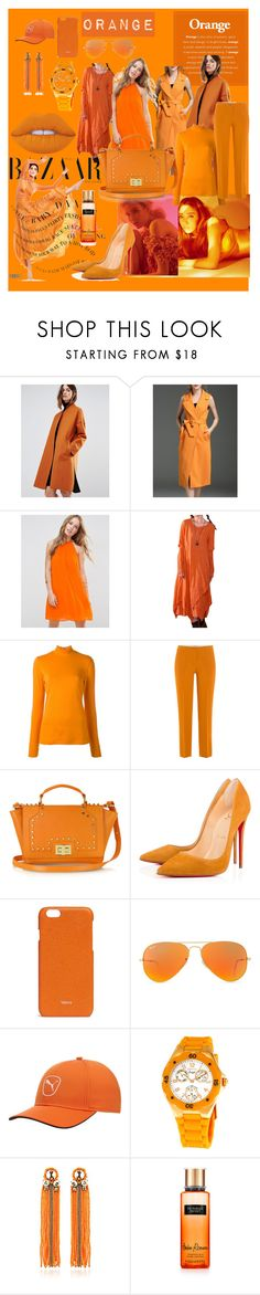 """ORANGE"" by luthfiyyah-rachmawati on Polyvore featuring Warehouse, ASOS, PS Paul Smith, Etro, Leonardo Delfuoco, Valextra, Ray-Ban, Puma, Invicta and Begada"