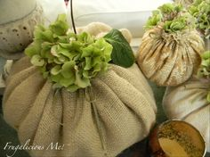 Frugalicious Me: Wednesday With Love-Ridiculously Easy Craft-Burlap Pumpkins! Seem to be popular now