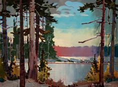 """""""Miracle Point at Bear Creek"""" 12 x 16 - acrylic Robert Genn, artist, original landscape paintings at White Rock Gallery Contemporary Landscape, Landscape Art, Landscape Paintings, Landscape Design, Landscapes, Tree Paintings, Pastel Paintings, Acrylic Paintings, Canadian Painters"""