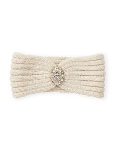 Embellished Knit Headband - Sparkle on, Snow Queen! Faceted beads stand out for maximum winter shine.