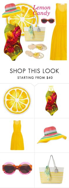 """""""Lemon Candy"""" by urchindeep ❤ liked on Polyvore featuring Nordstrom Rack, UrchinDeep, Diane Von Furstenberg, Missoni, Gucci, Reed, Summer, beach, swimwear and swimsuit"""