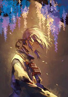 Touken Ranbu Characters, Anime Characters, Aesthetic Art, Aesthetic Anime, Touken Ranbu Mikazuki, Vegvisir, Samurai Art, Fantasy Images, Inspirational Artwork