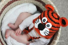 FREE Crochet Pattern - Repeat Crafter Me: Crochet Tiger Hat Pattern