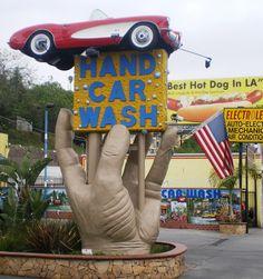 working at the car wash | Description Studio City Hand Car Wash, Ventura Blvd., Studio City, CA ...