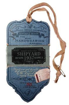 SHIPYARD DENIM SUPPLY CO #hangtag:
