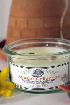 Organic Ivory Beeswax Candle- Weck Jar 3.5 oz. Small Jar