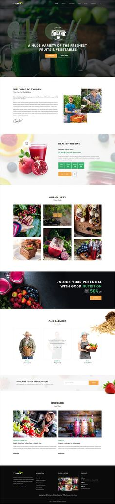 Tyumen is beautiful premium #Photoshop template for #webdesign awesome #organic shop website with 3 unique homepage layouts and 18 organized PSD pages download now➩ https://themeforest.net/item/tyumen-organic-shop-psd-template/19268869?ref=Datasata
