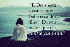 Frases & Citações Silvana Castro — Eu confio no Senhor