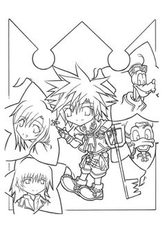 kingdom hearts coloring pages Kingdom hearts 2 coloring pages