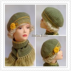 Crochet Beret, Free Crochet, Knitted Hats, Crochet Tablecloth, Vintage Crochet, Blankets, Projects To Try, Knitting, Handmade