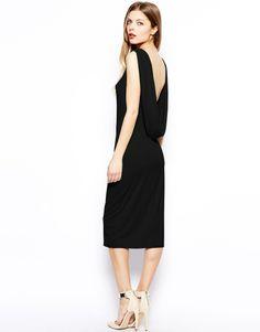 ASOS Drape Back Midi Dress