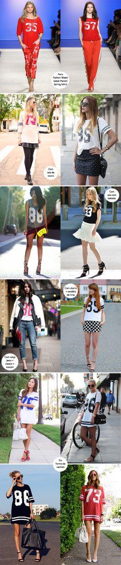 Look para inspirar, como usar, t-shirt, camiseta, dress, vestido, number tees, outfit, estampa de núemro