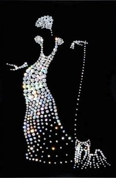what a great idea for a piece of artwork--a silhouette shaped with beads.  I'm going to try it.