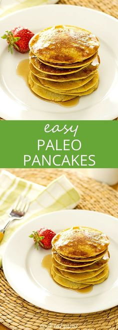 Easy Banana Pancakes - This healthy banana pancake recipe is a quick breakfast any day of the week. {gluten-free, dairy-free, paleo, grain-free, sugar-free} ~ http://cookeatpaleo.com