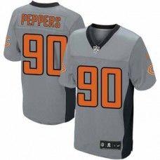 Mens Nike Chicago Bears http://#90 Julius Peppers Elite Grey Shadow Jersey $69.99