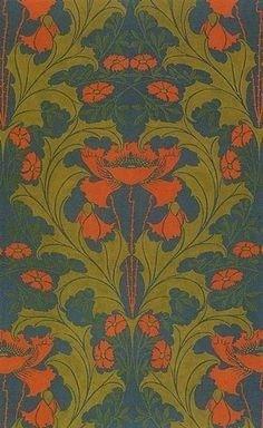 Die 27 Besten Bilder Von Tapeten Jugendstil Art Nouveau Red Und