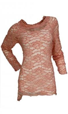 Joy Clothing Lacey Rose Vintage Tunic in Peach