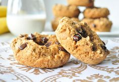 Banana Chocolate Chip Donuts http://mywholefoodlife.com/2012/12/21/banana-chocolate-chip-donuts/… #vegan #donuts #whatveganseat