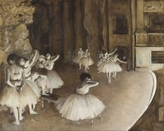 File:Edgar Degas - Ballet Rehearsal on Stage - Google Art Project.jpg