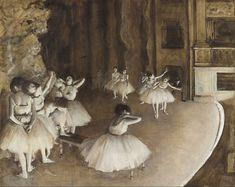 File:Edgar Degas - Ballet Rehearsal on Stage - Google Art Project.jpg