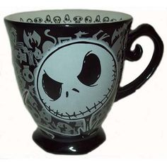 Disney Coffee Cup Mug - Nightmare Before Christmas - Jack Skellington $19.95. Tim Burton's Nightmare Before Christmas star Jack Skellington is back once again on this black and white coffee mug. Typical style for the character, a unique design and must have for any Tim Burton's Nightmare Before Christmas or Jack Skellington fan.