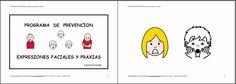 MATERIALES - Programa de Prevención: Expresiones faciales y praxias.  Programa de Estimulación del Lenguaje Oral para Infantil. Está pensado para trabajar de forma lúdica y en sesiones cortas la Articulación, Discriminación Auditiva, Praxias, Respiración y Soplo.  http://arasaac.org/materiales.php?id_material=969