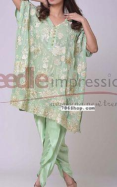 Sea Green Chiffon Suit | Buy Needle Impressions Dresses