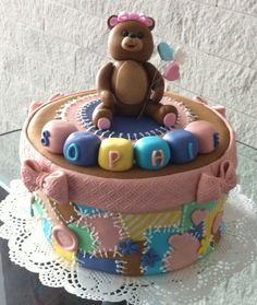 Baby shower patchwork cake
