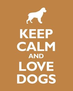 Keep Calm and Love Dogs ♥