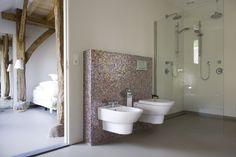 Senso Gietvloer | gietvloer.nl. Gietvloer in slaapkamer en badkamer.