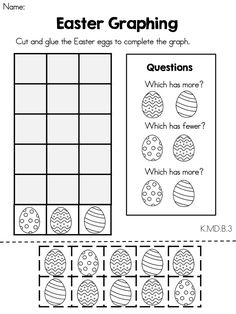 math worksheet : easter math  graphing missing number counting on  ten frames  : Kindergarten Graphing Worksheet
