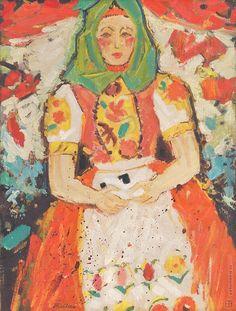 Ľudovít Fulla: Zemplínčanka:1947 Heart Of Europe, Illustrators, Folk Art, History, Country, Painting, Artists, Recipes, Historia