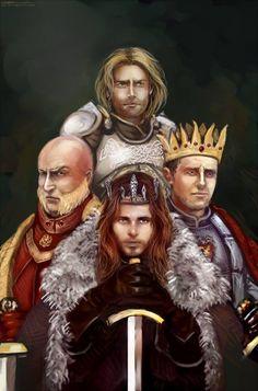 Jaime Lannister, Tywin Lannister, Stannis Baratheon and Robb Stark..