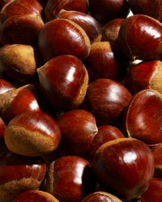 Chestnuts♥  These are my Dad's favorite things at Christmas ... and they are VERY hard to find in our area.  He was raised in Brooklyn, New York, where they had vendors in the streets which served chestnuts HOT.
