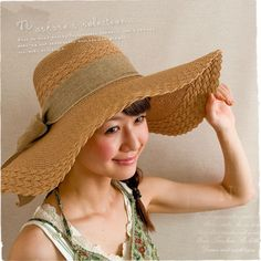 Japanese incorporated straw hat bow ribbon hat