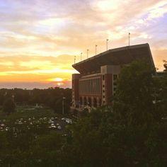 The University of Alabama Bryant-Denny Stadium; view from Tutwiler Hall