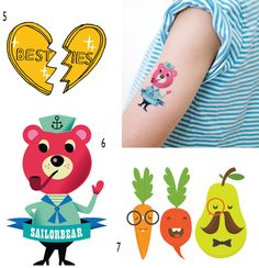 Cute!  Temporary Tattoos for kids