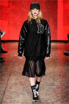 varsity jacket from DKNY's catwalk 2014