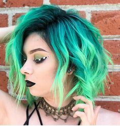 Try 60 Amazing Green Ombre Hairstyle Design in 2019 – Page 4 of 12 - All For Hair Color Trending Ombre Hair Color, Cool Hair Color, Blue Ombre, Green Hair Ombre, Vivid Hair Color, Short Ombre, Hair Colors, Lilac Hair, Pastel Hair